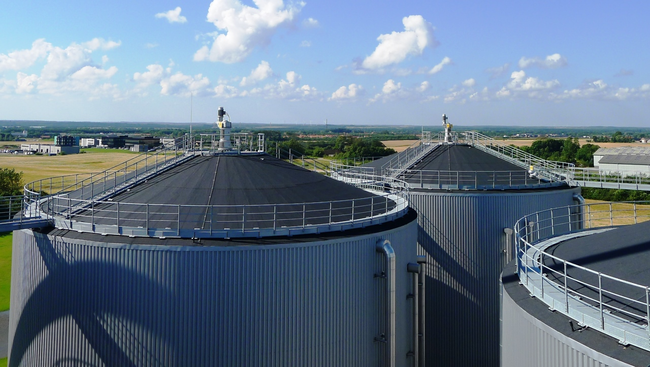 A bioenergy facility in Jutland, Denmark