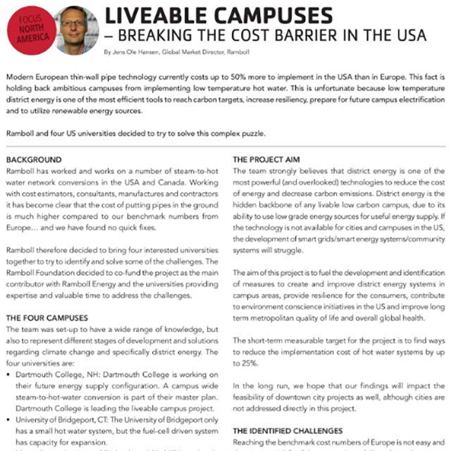 Liveable campuses