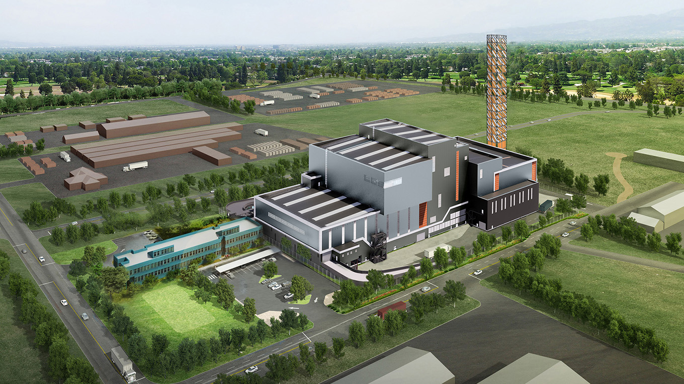 Visualisation of waste-to-energy facility in Kwinana