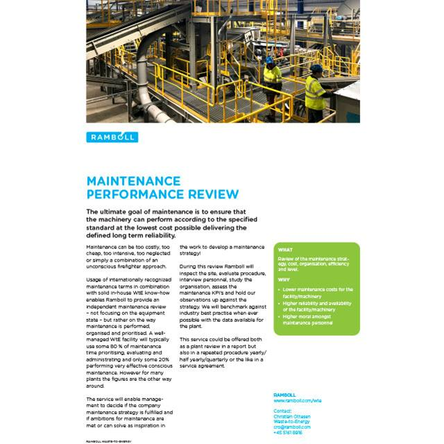 Maintenance Performance Review