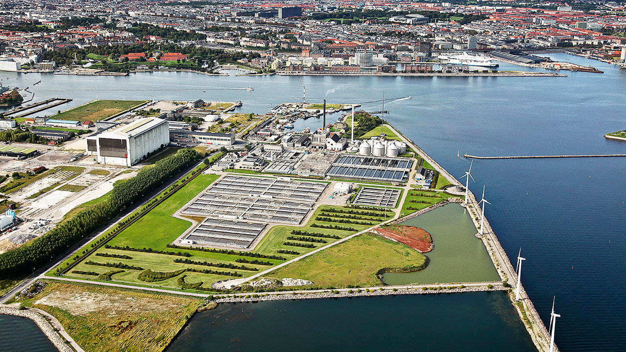 'Lynetten' waste-water processing plant outside Copenhagen, Denmark