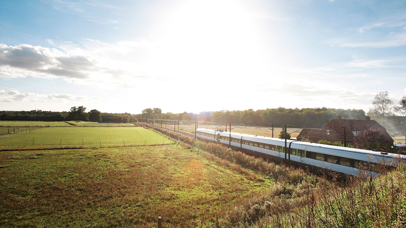 Railway in the danish country side