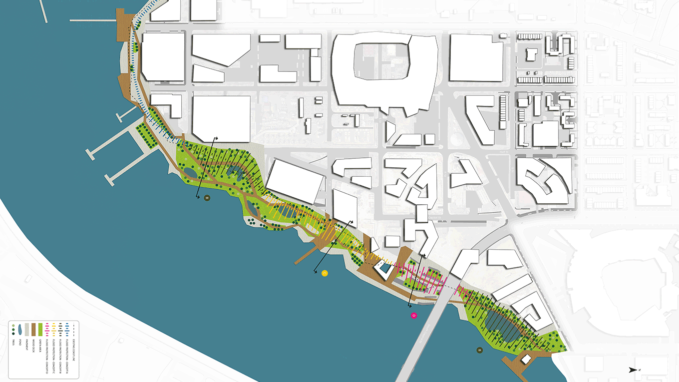 Flood-risk management and coastal protection at Buzzard Point, Washington DC