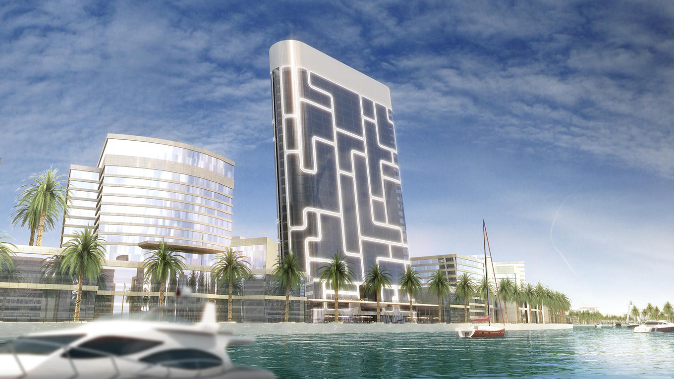 "The Pad an award-winning multistorey residential development that aspires to the title of ""most intelligent building in the world"" is located in Business Bay, Dubai, UAE"