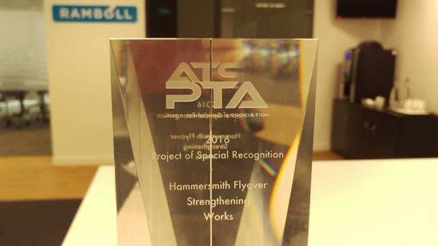 Ramboll. The Post Tensioning Association award for 'Project of Special Recognition' April 2016