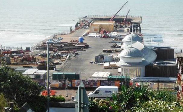 Ramboll. Hastings Pier conservation works in progress August 2015