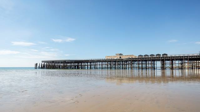 Daniel Shearing. The 272m long pier now features its sole remaining building, carefully conserved and adapted into a restaurant plus a new visitor centre
