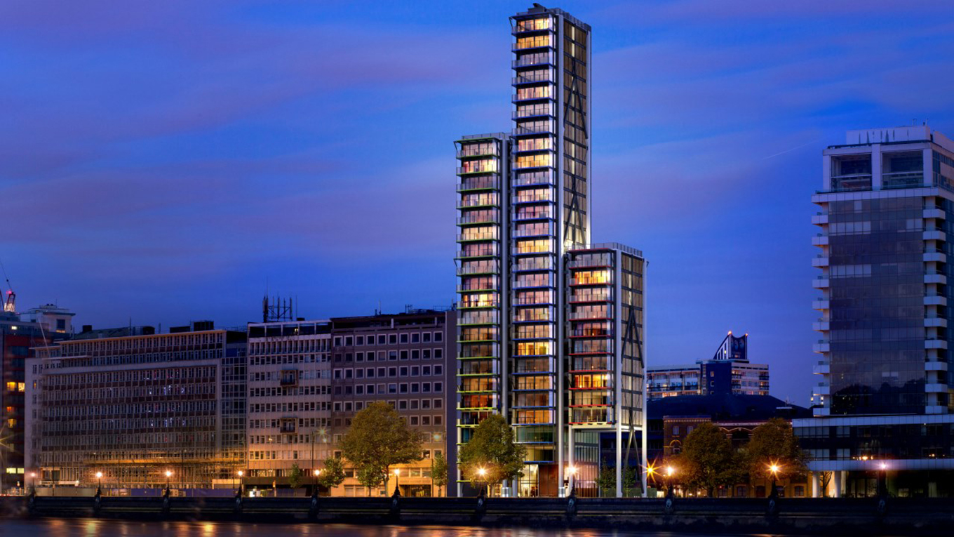 Merano Residences - a 28 storey, high end, mixed use development boasting panoramic views of Westminster and the City of London.