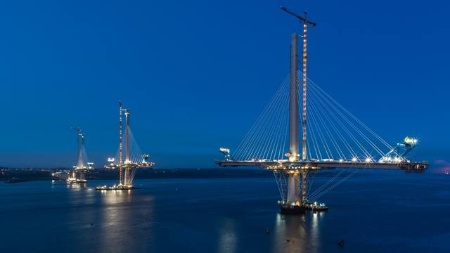 Bastian Kratzke. Image courtesy of Transport Scotland. The Queensferry Crossing under-construction