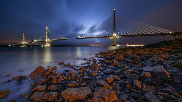 Bastian Kratzke. Image courtesy of Transport Scotland. The Queensferry Crossing under-construction October 2016
