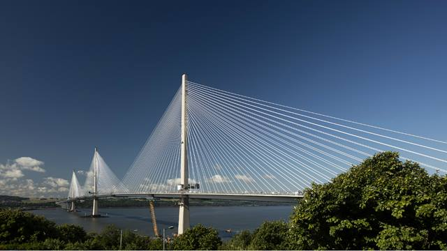 Graeme Peacock. Completed bridge, viewed from the north. Courtesy of Transport Scotland