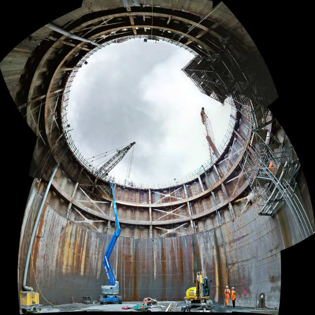 Courtesy of Transport Scotland. South Tower foundation looking skywards