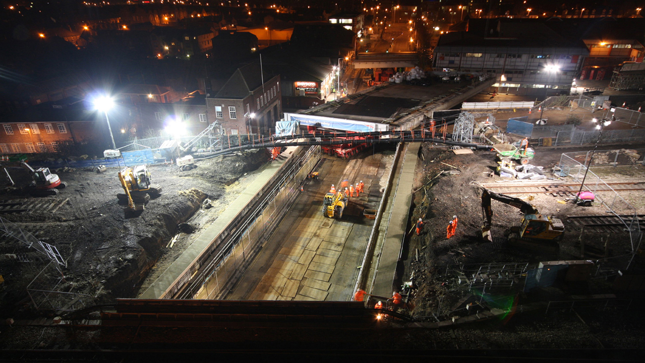 Reading Station area redevlopment works. Photo: Network Rail