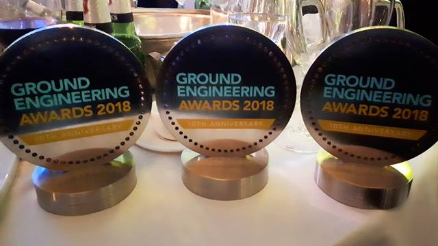 Our three 2018 Ground Engineering trophies reflect a good year for Ramboll's geotechnical teams.